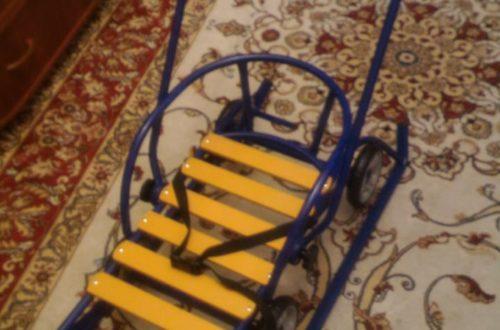 Санки с механизмом выдвижных колёсных шасси Санимобиль (обзор покупки)